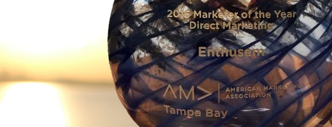 Enthusem Wins AMA Marketer of the Year Award for Direct Marketing
