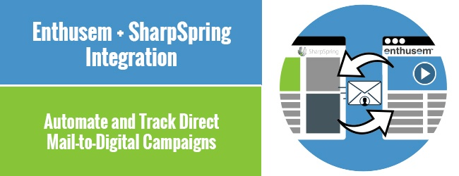 SharpSpring and Enthusem Integration Help Marketers Automate and Track Direct Mail-to-Digital Campaigns